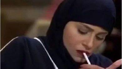 Photo of شاهد.. الفنانة السعودية الهام علي تدخن وهي ترتدي الحجاب
