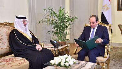 Photo of مسئول سعودي يُسلّم الرئيس السيسي رسالة خطية من خادم الحرمين الشريفين