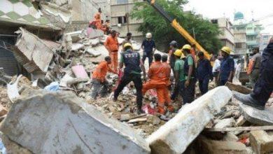 Photo of مصرع وإصابة 19 شخصًا جراء انهيار مبنى سكني وسط الهند
