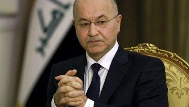 Photo of الرئيس العراقي يحذر من التراخي بمحاسبة الفاسدين ويدعو لانتخابات مبكرة نزيهة