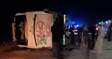 Photo of مصرع 4 أشخاص وإصابة 46 آخرين في حادث سير بطريق أبوسمبل جنوب أسوان
