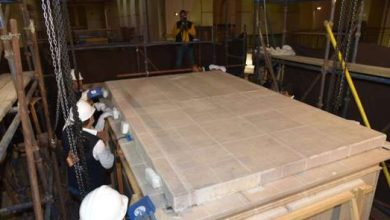 Photo of المتحف الكبير يستقبل المقصورة الثالثة للملك الذهبي توت عنخ آمون